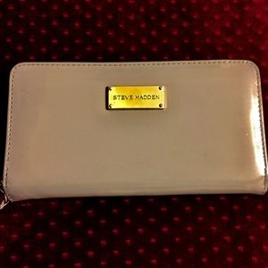 STEVE MADDEN Faux Leather Brownish/Gray Wallet